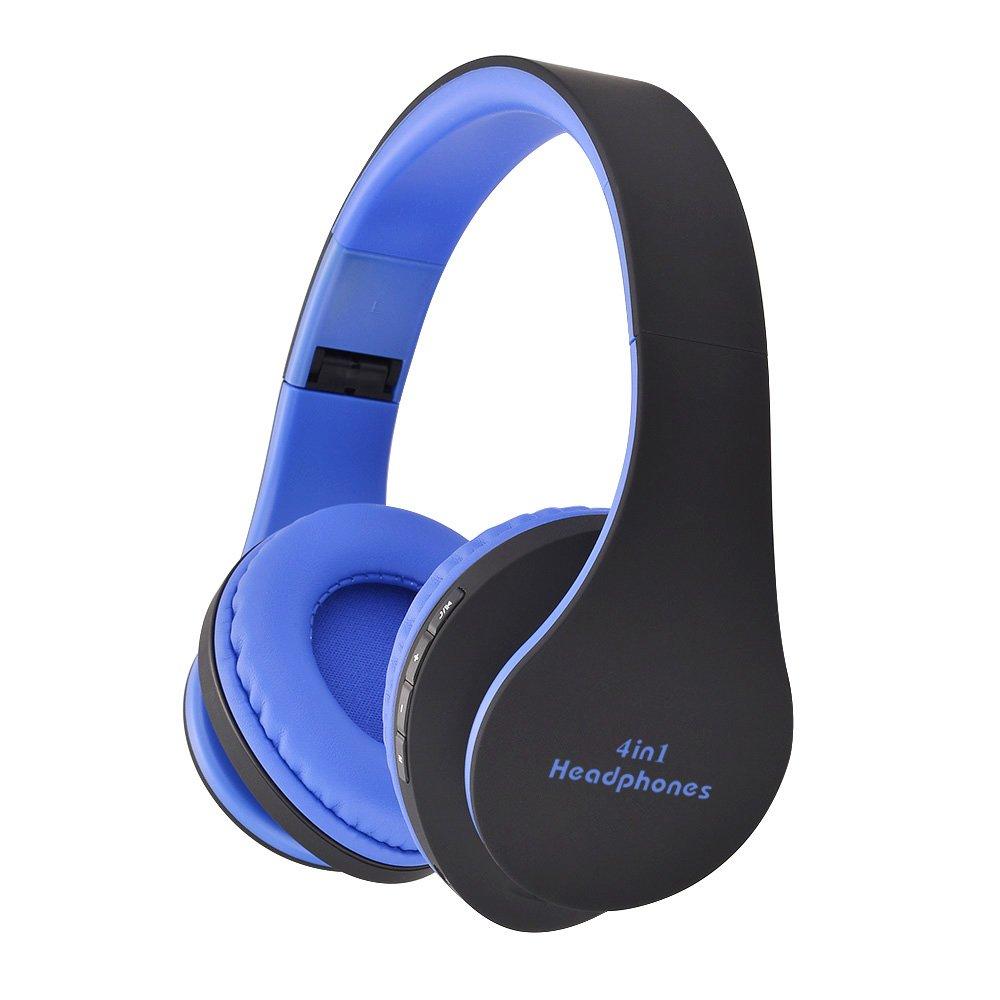 Headphones, Bluetooth Wireless Wired Headphones Foldable Adjustable Lightweight Headphones, Hi-Fi Wireless Headphones with Microphone, Stereo Sound, Suitable for Travel Work TV Computer Phone