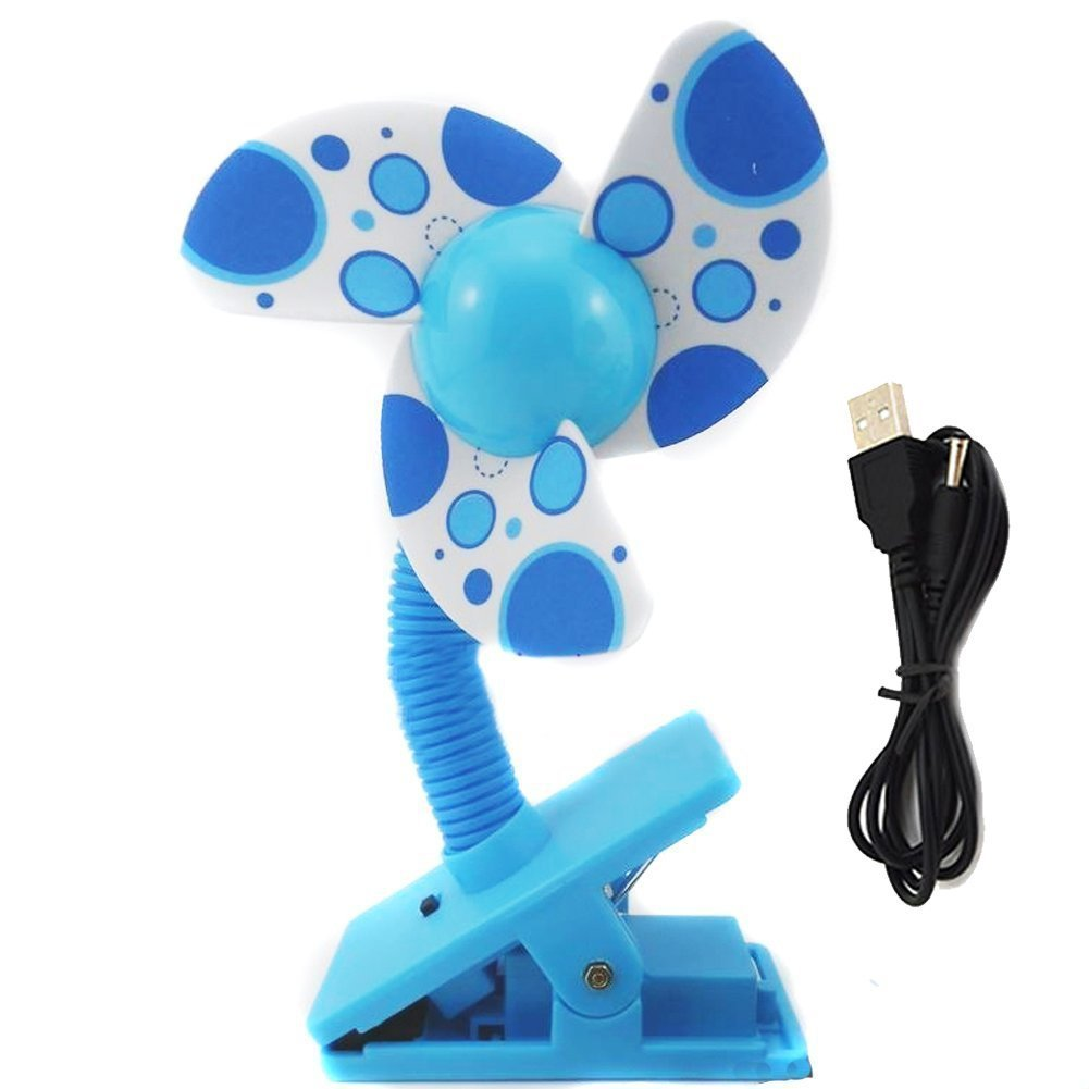 Sealike USB Clip-on Baby Mini Stroller Fan for Strollers Baby Cots Playpens with Stylus
