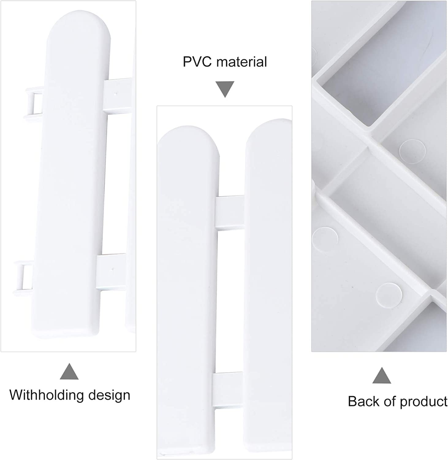 TOPBATHY 5PCS Fashion Durable Safe Pratical Useful Fence Family Supplies Garden Crawl Garden Enclosure Picket Fence White