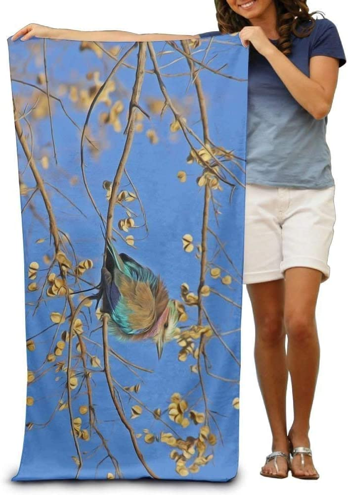 Gebrb Toallas de baño,Toalla de Playa,Manta de Playa Personalized Warbler Cute Oversized Beach Towel Pool Towel,Swim Towels for Bathroom,Gym,and Pool 31 in X51 in