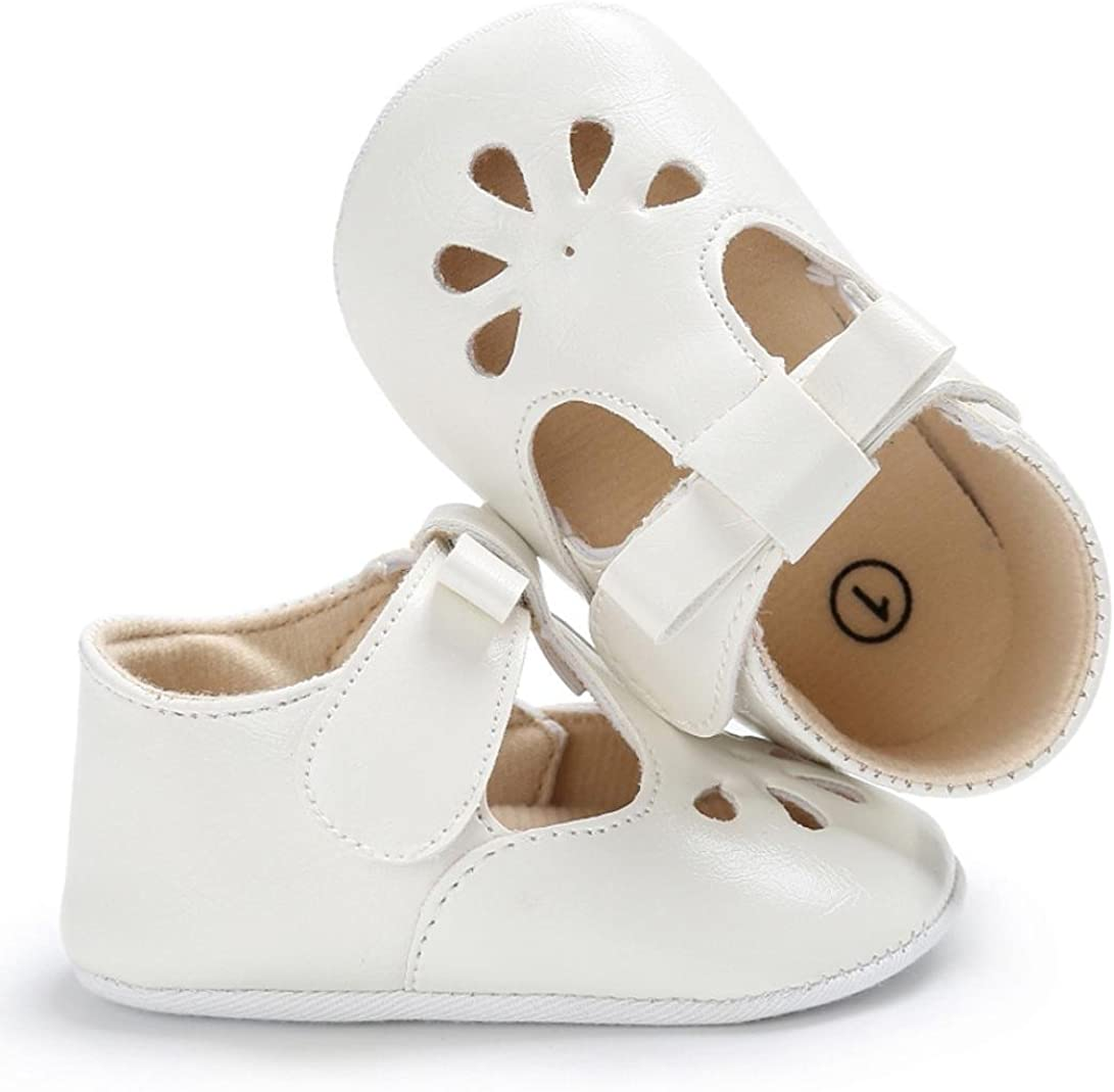Toddler Baby Infant Kids Fashion Bowknot Soft Sole Crib Soft Sandals Newborn Anti-Slip Hook Loop Shoes SHOBDW Girls Shoes