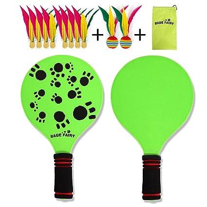 dream-cool NUEVO kit de raquetas palas badminton playa con pelotas ...