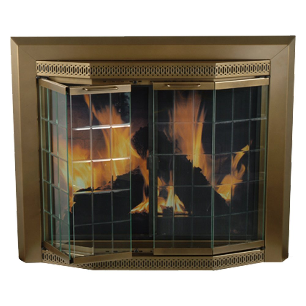 glass door for fireplace. Amazon.com: Pleasant Hearth GR-7202 Grandoir Fireplace Glass Door, Antique Brass, Large: Home Improvement Door For O