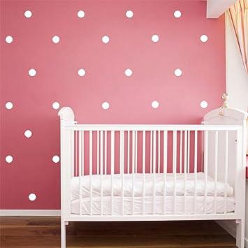 Slivercolor Weiß Punkt Aufkleber,Herausnehmbarer Dot Aufkleber,Wandtattoo  Punkte Für Kinderzimmer Deko, 1