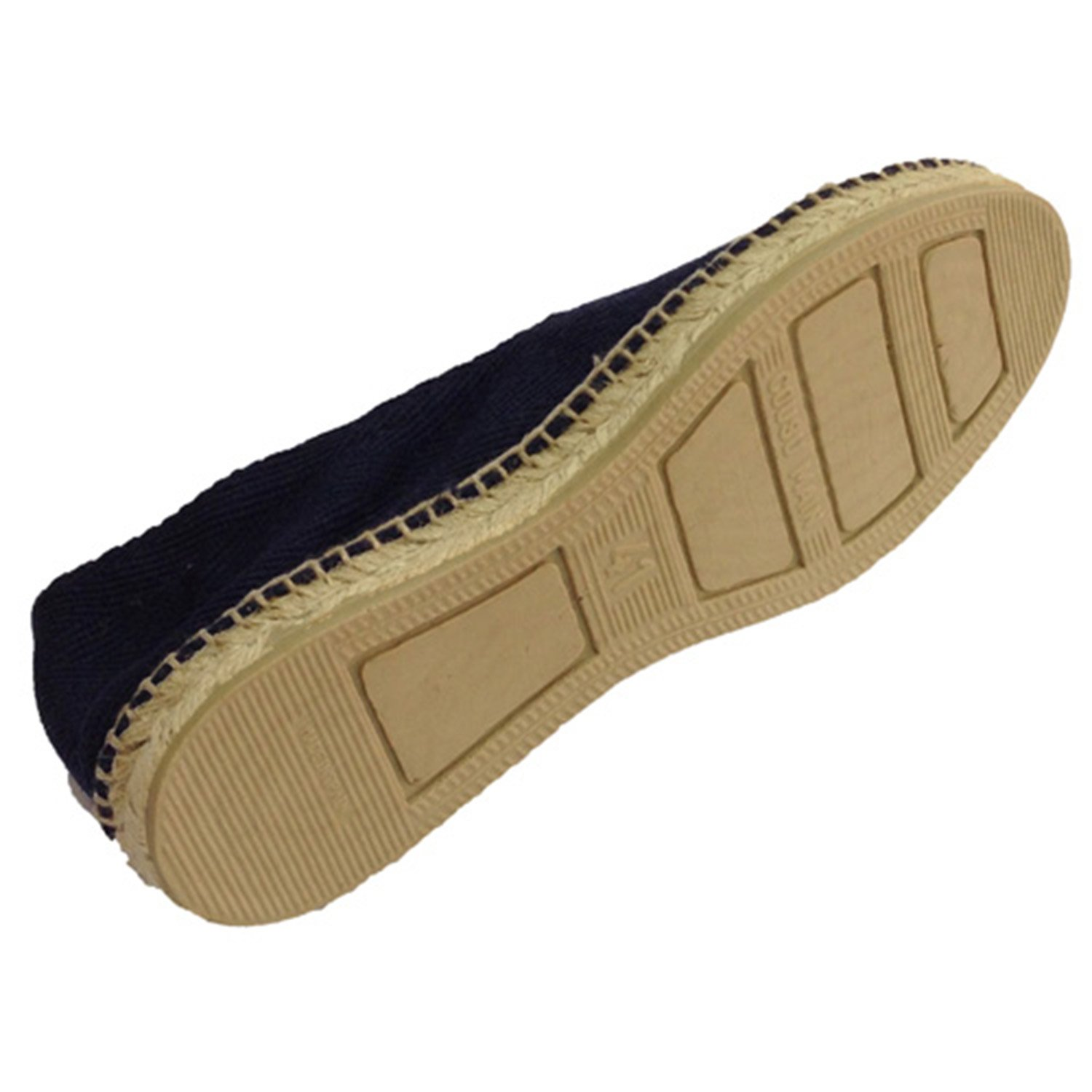 Hemp sandals herringbone fabric and rubber sole below Made in Spain in navy  blue: Amazon.co.uk: Shoes & Bags