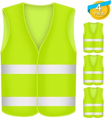 4 gilets jaune XL panne accident gilet en iso20471:2013 Sécurité Gilet voiture