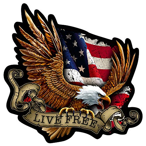 (Built USA Live Free Decal )