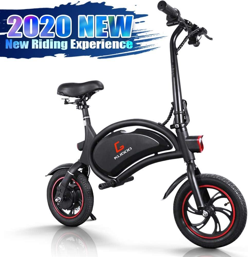 urbetter Bicicleta Eléctrica, 250W Patinete Eléctrico Plegable Urbana con Luz LED, Asiento Ajustable, Velocidad Máx 25 km/h, Bici Electrica Adultos Unisex