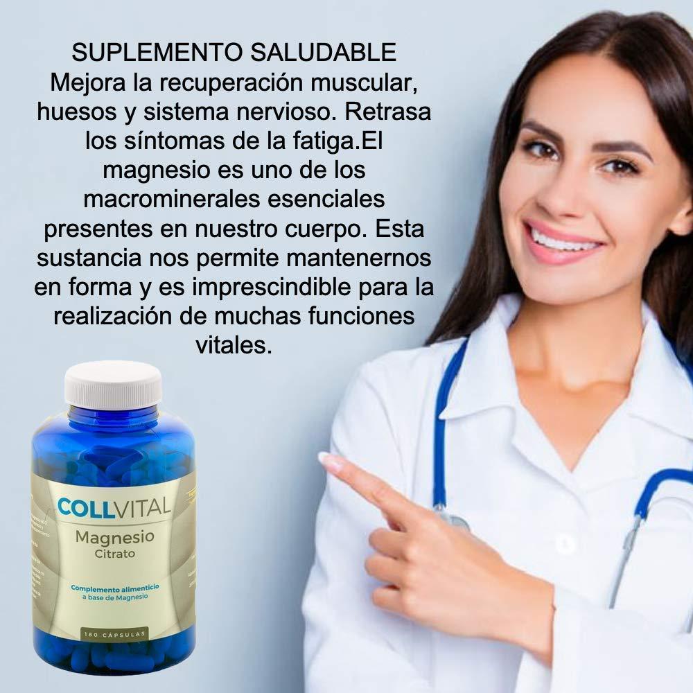 Citrato de Magnesio concentrado 180 cápsulas de 400mg tratamiento para 6 meses. Suplemento de alta pureza: Amazon.es: Salud y cuidado personal