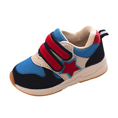 Sunbona Children Baby Boy's Girl's Patchwork Mesh Light Weight Breathable Sneakers Casual Sports Running Shoe