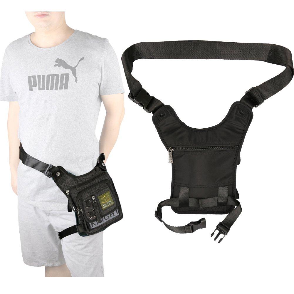 Vanlison Tactical Fanny Pack Hiking Bag Leg Pouch v.bk1096 Leg Bag Thigh Bag