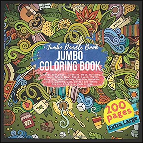 Amazon.com: Jumbo Coloring Book Large 200+ pages: Valentine ...