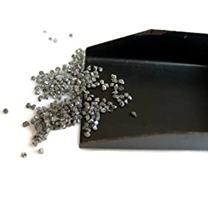 5 Carats Wholesale Undrilled Grey Raw Diamond Chips Beads, Uncut Rough Diamond Chips, 1mm To 2mm Approx