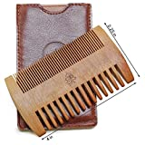 Bonsai Tree Beard Comb, Wooden Beard Comb Made With Pear Wood. Double Sided Beard Comb.