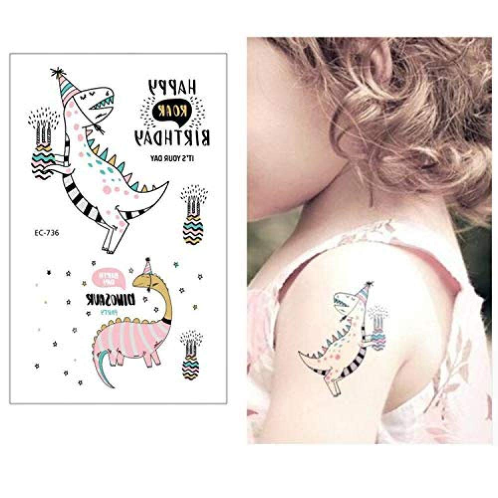 Dinosaurio Tatuajes Temporales Para Niños Pegatinas De Tatuaje De ...
