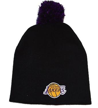 details for elegant shoes great fit Amazon.com : Los Angeles Lakers Black Pom Skull Cap - NBA LA ...