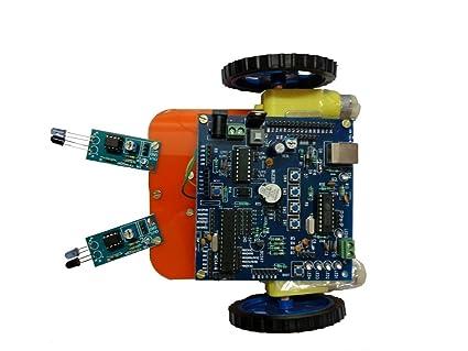 Invento Two wheel smart car Line following robotic LFR DIY