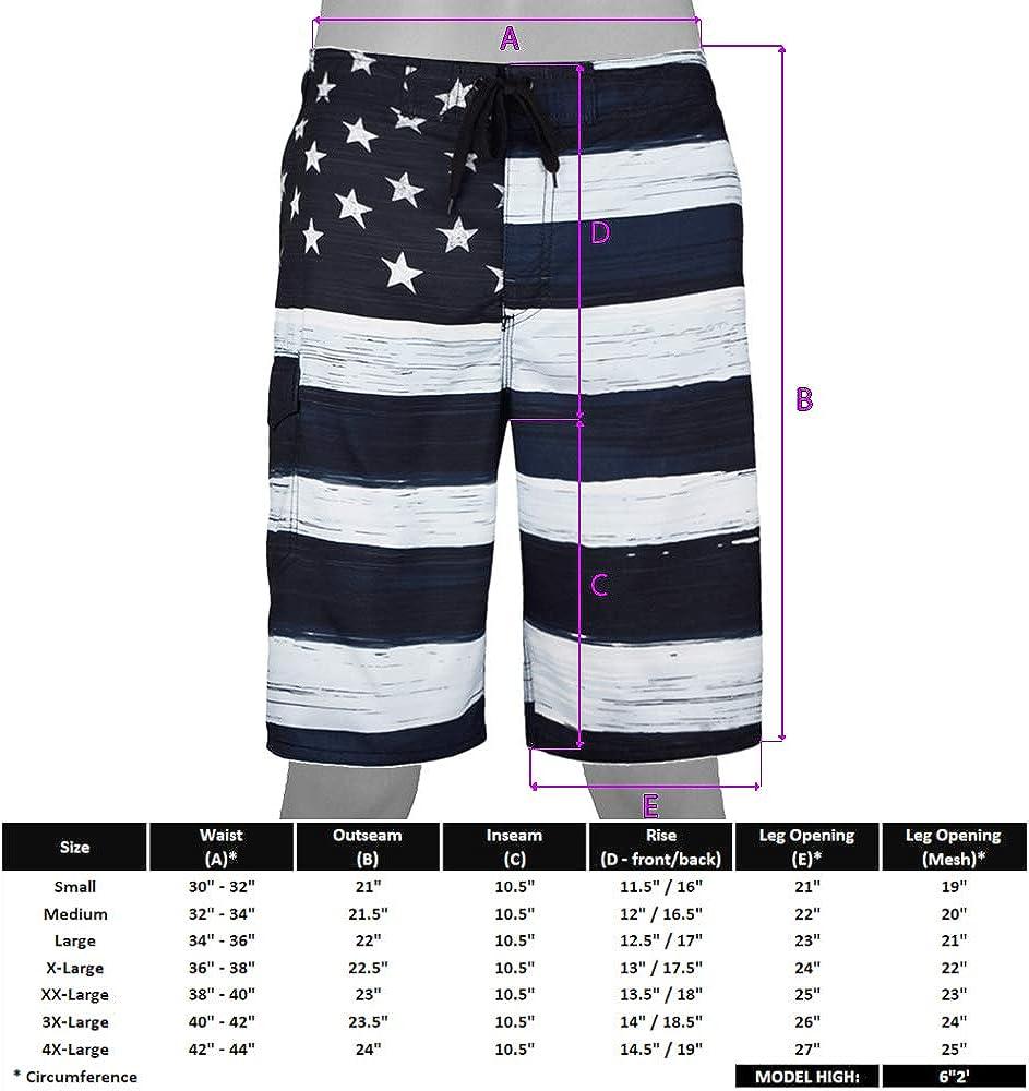 akingstore Pantalones Cortos de Playa para Hombre con Bandera Cubana Americana Troncos de ba/ño Pantalones Cortos de Tabla de Secado r/ápido con Forro