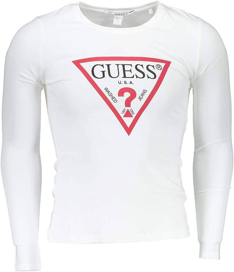 GUESS JEANS O94I09J1311 Camiseta con Las Mangas largas Mujer: Amazon.es: Ropa y accesorios