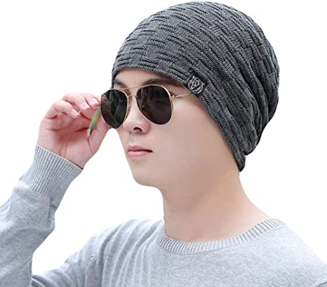 Unexceptionable-Beanie Hat Gorros Gruesos deinvierno para Hombres ...