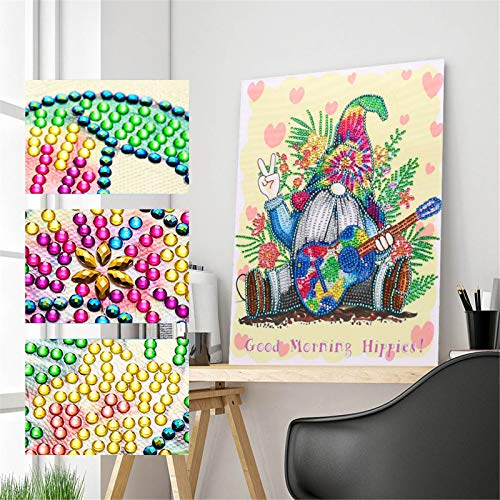 5D Diamond Painting Cross Stitch, Goblin Gnome Painting Adorns, DIY Embroidery Painting Rhinestone Pasted, Wall Art for Home Decor (A)