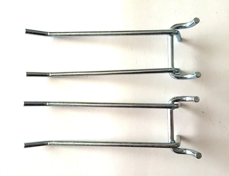 New strong Pegboard Hooks 6 Metal Peg Tool Holder Garage Shelf Hanger for 1//8 /& 1//4 Pegboard 2 Pack