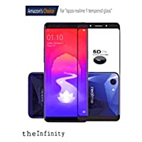 SuperdealsForTheinfinity Premium 5D No Rainbow, Front Body Cover Tempered Full Glass Screen Protector Guard for Oppo Realme 1 (Black)