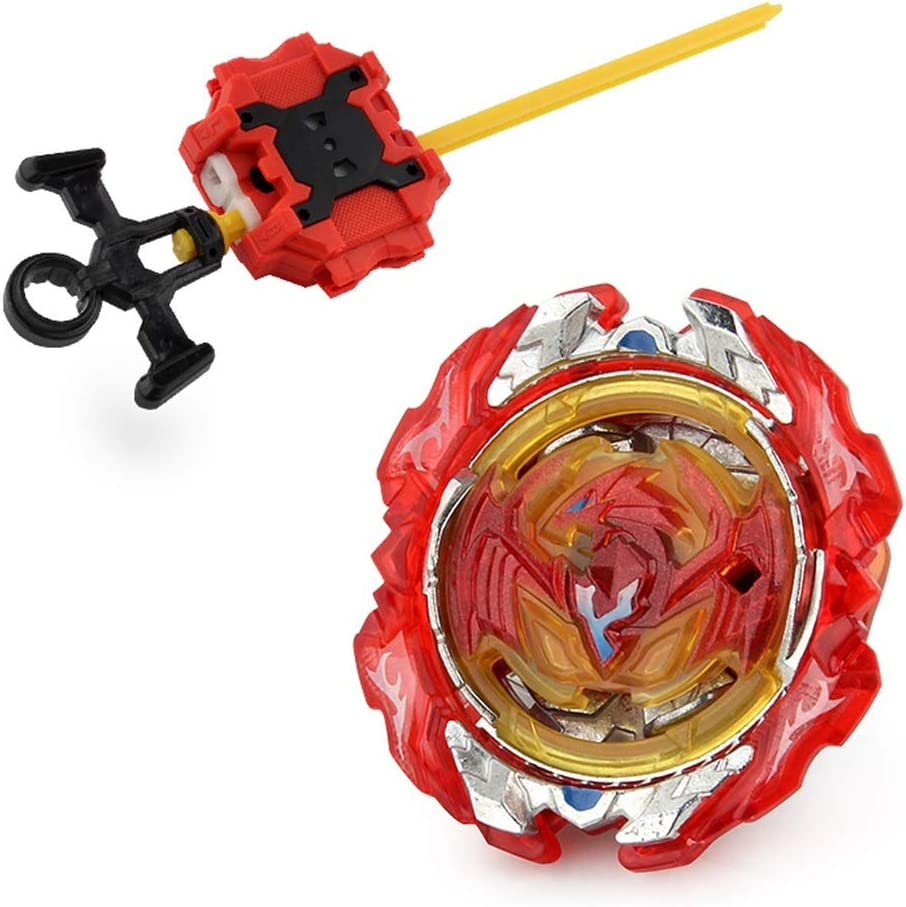 Kingmia Spinning Top with Launcher 4D Fusion Model Metal Masters Speed Spinning Top Novelty Toys for Kids Children Gift Style 08