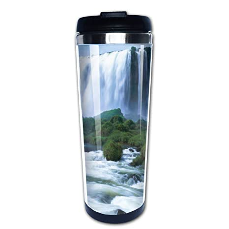Amazon com: BIOIJUHJO Waterfall River Stainless Steel Water