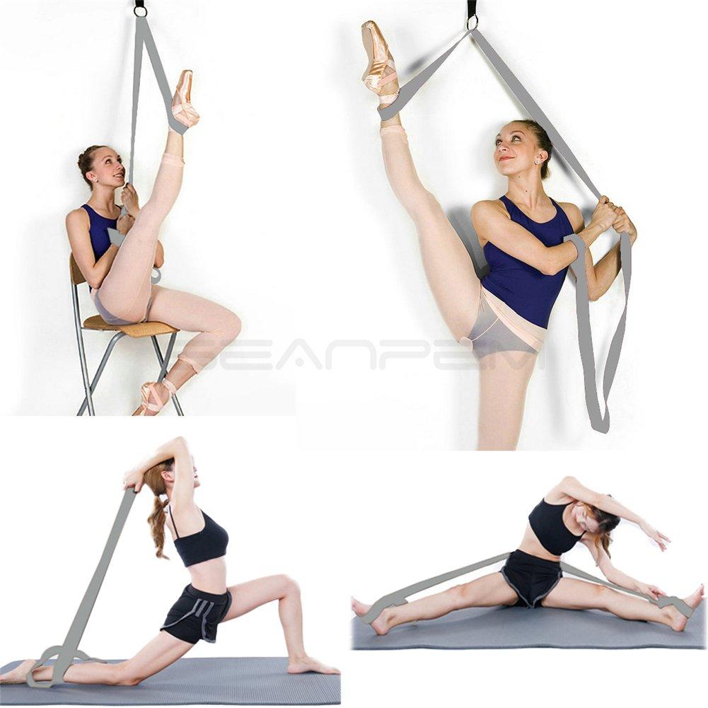 danza beige equipo de estiramiento premium para ballet taekwondo y MMA INPAY gimnasia Estirador de piernas obtener m/ás flexible con la puerta de flexibilidad entrenador