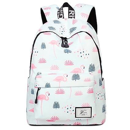 Uniuooi Kids Flamingo Backpack School Bag for Teenagers Girls Boys,  Secondary High School College 30e5c59912