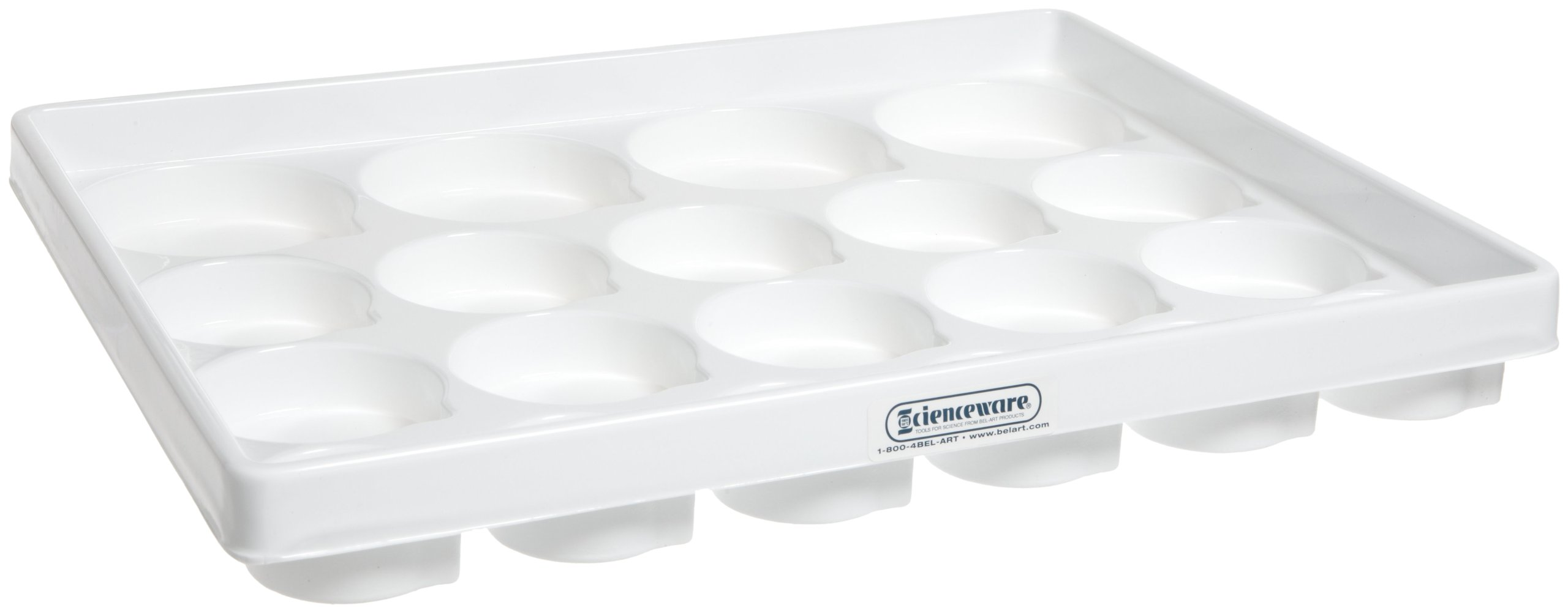 Bel-Art Lab Drawer Compartment Tray for Beakers, Flasks, Jars; 20 Wells, 14 x 17½ x 2¼ in. (H18650-0000)