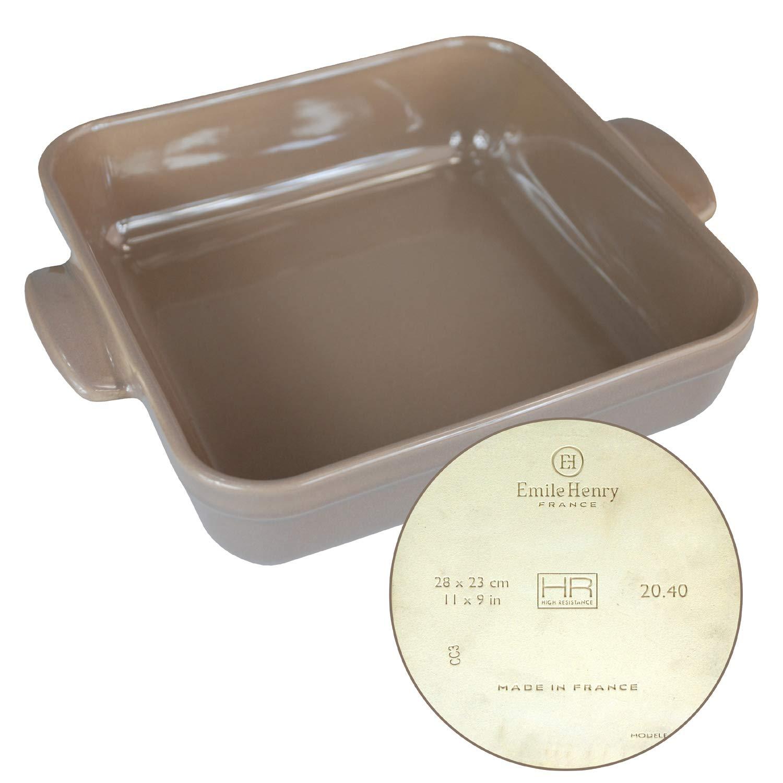 Emile Henry - Bandeja de horno de cerámica para microondas y ...