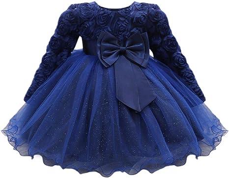 Falda niña Flor Vestido de princesa de bebé Niñas Vestido de boda ...