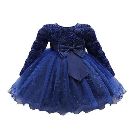 Falda niña Flor Vestido de princesa de bebé Niñas Vestido de boda de fiesta de tutú Vestido de dama de honor de bebé Pompa Vestido Fiesta de ...