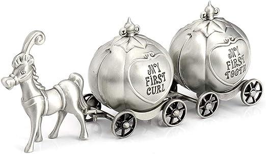 Mi Primer Diente y Curl Recuerdo Box Set Diente de Leche Caja Fuerte fetal contenedores de Pelo para los ni/ños Metal Carro de Cinderella Ckssyao Los Dientes de Leche Box