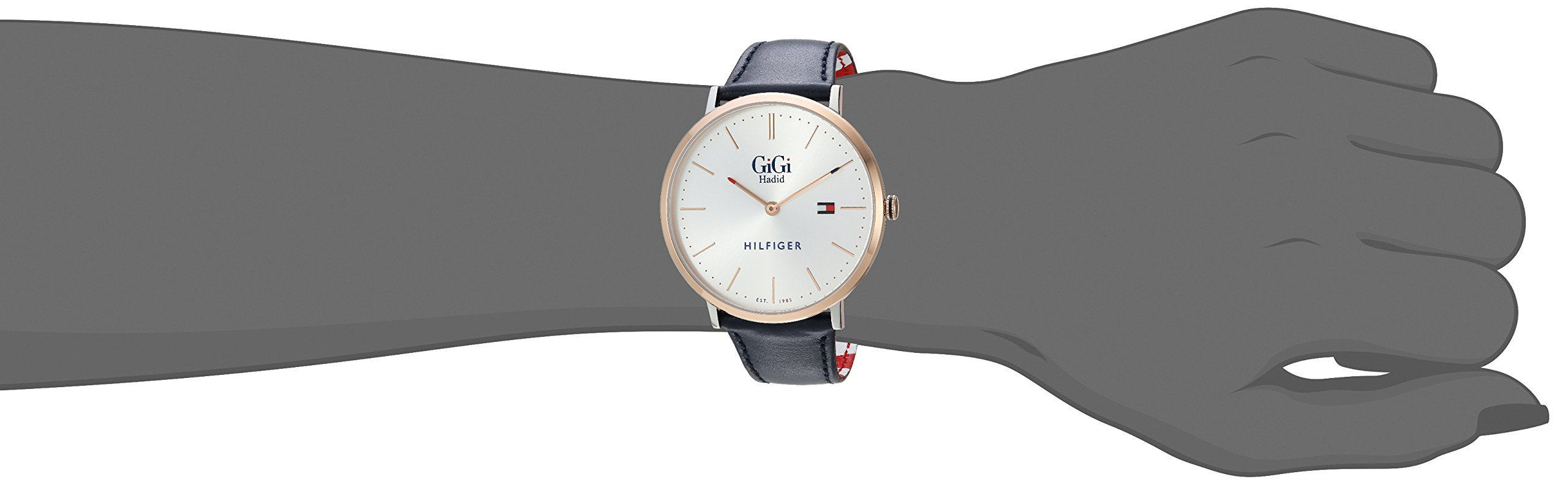 Tommy Hilfiger Women's 'GIGI' Quartz Stainless Steel and Leather Casual Watch, Color:Blue (Model: 1781748) by Tommy Hilfiger (Image #1)