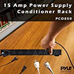 PDU Power Strip Surge Protector - 150 Joule 15 Amp 9 Outlet Strips Surge Protector Heavy Duty Electric Extension Cord Strip - 1U Rack Mount Protection Power Outlet Strip W/AC Filter - PylePro PCO850 8 RELIABLE SURGE PROTECTION: The power supply PDU surge protector strip features 150 joules energy dissipation and 1200 amp peak impulse current to protect your equipment when voltage fluctuates, swell, or spike during storms and power outages 9 OUTLET: Equipped w/ 8 rear and 1 front outlet so you can turn one outlet into nine w/ the surge-protector power strip. Has a master power switch that you can use to completely shut off electronics when not in use for power/energy saving ELIMINATES RFI AND EMI: The built-in ac noise filters get rid of unwanted radio frequency (RFI) and electromagnetic interference (EMI) to improve the stability of the equipment and prolong the service life of your electronics at home or office
