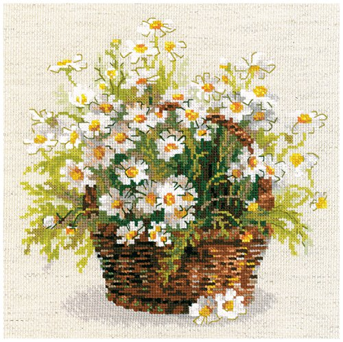 "Russian Daisies Counted Cross Stitch Kit, 9.75"" x 9.75"", 14-"