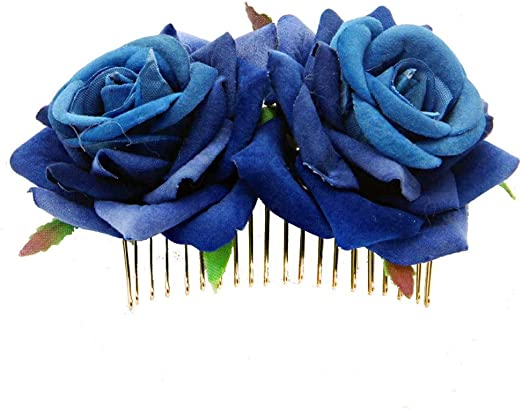 Laishutin Accesorios para el Cabello 2 Pack Rose Flower Hair Clip ...