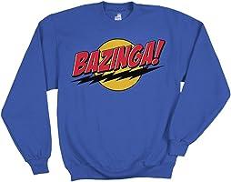 Big Bang Theory Bazinga Superman Pull Over Sweatshirt Officially Licensed New XL