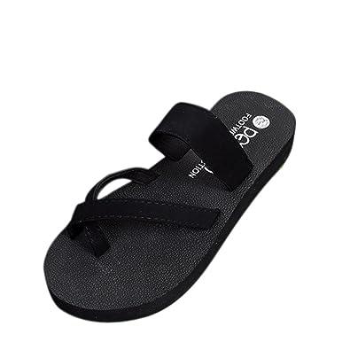 DEELIN Damen Schuhe Damen Sommer Schuhe Plattform Bad Hausschuhe Keil Strand Flip Flops Hausschuhe Schuhe