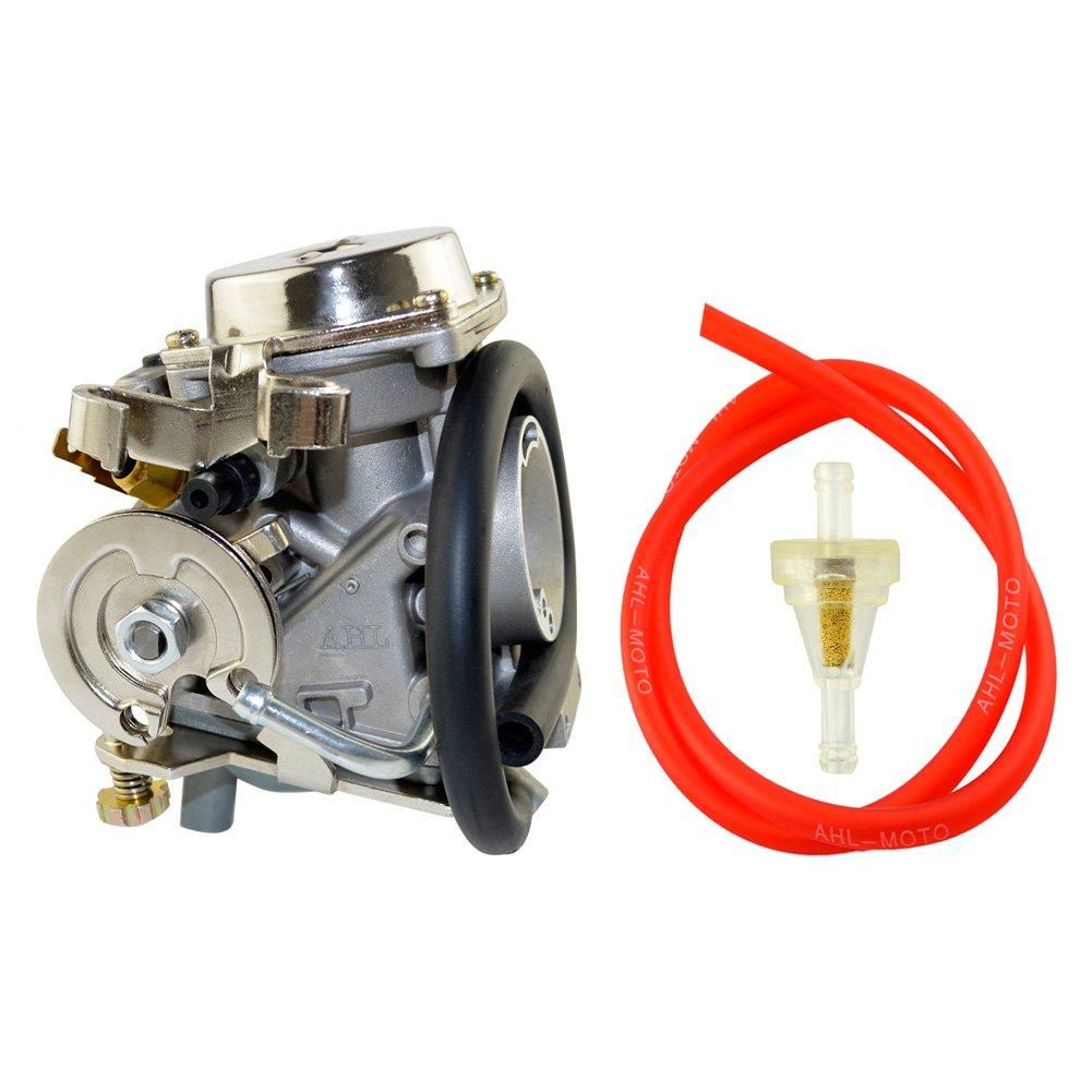 Amazon.com: AHL Carburetor & Fuel Filter & 30cm Oil Tube Kit for Yamaha  XV250 Route 66 / Virago 250 / V-Star 250 1988-2014: Automotive