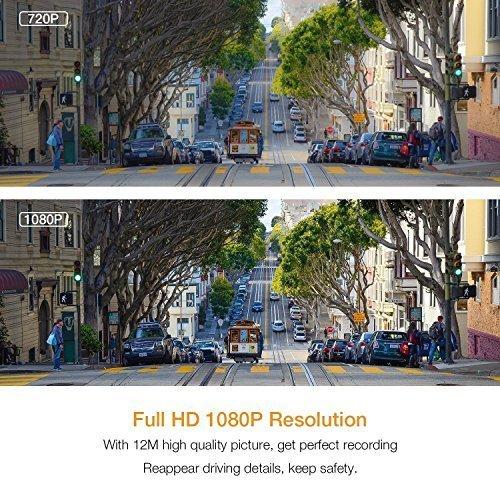 Enregistrement en Boucle WDR acc/él/érom/ètre Cam/éra de Tableau de Bord pour Voiture avec Full HD 1080p 170 degr/és Super Grand Angle /écran TFT 3,0 Vision de Nuit