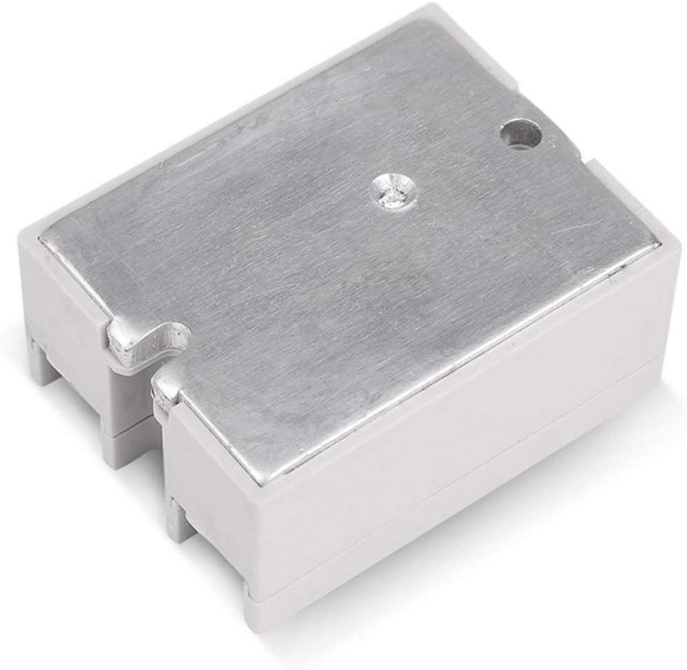 Ballylelly Relais /à Semi-conducteurs CC-CA 10A 12V 3-32V CC /À 220V 24-380V AC Charge Monophas/é SSR pour Le contr/ôle de la temp/érature