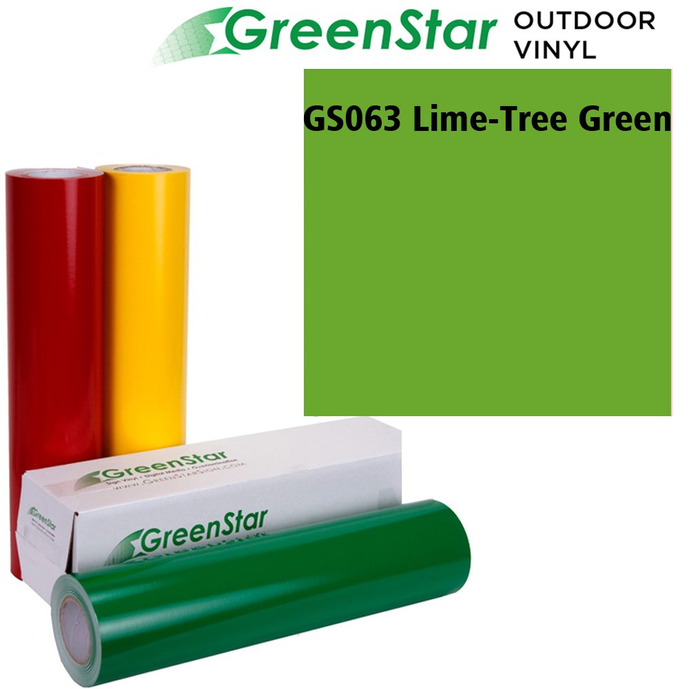 50YD x 24in Sign Vinyl for Graphics, Lettering, Self Adhesive, Gloss, GreenStar - Lime Tree Green