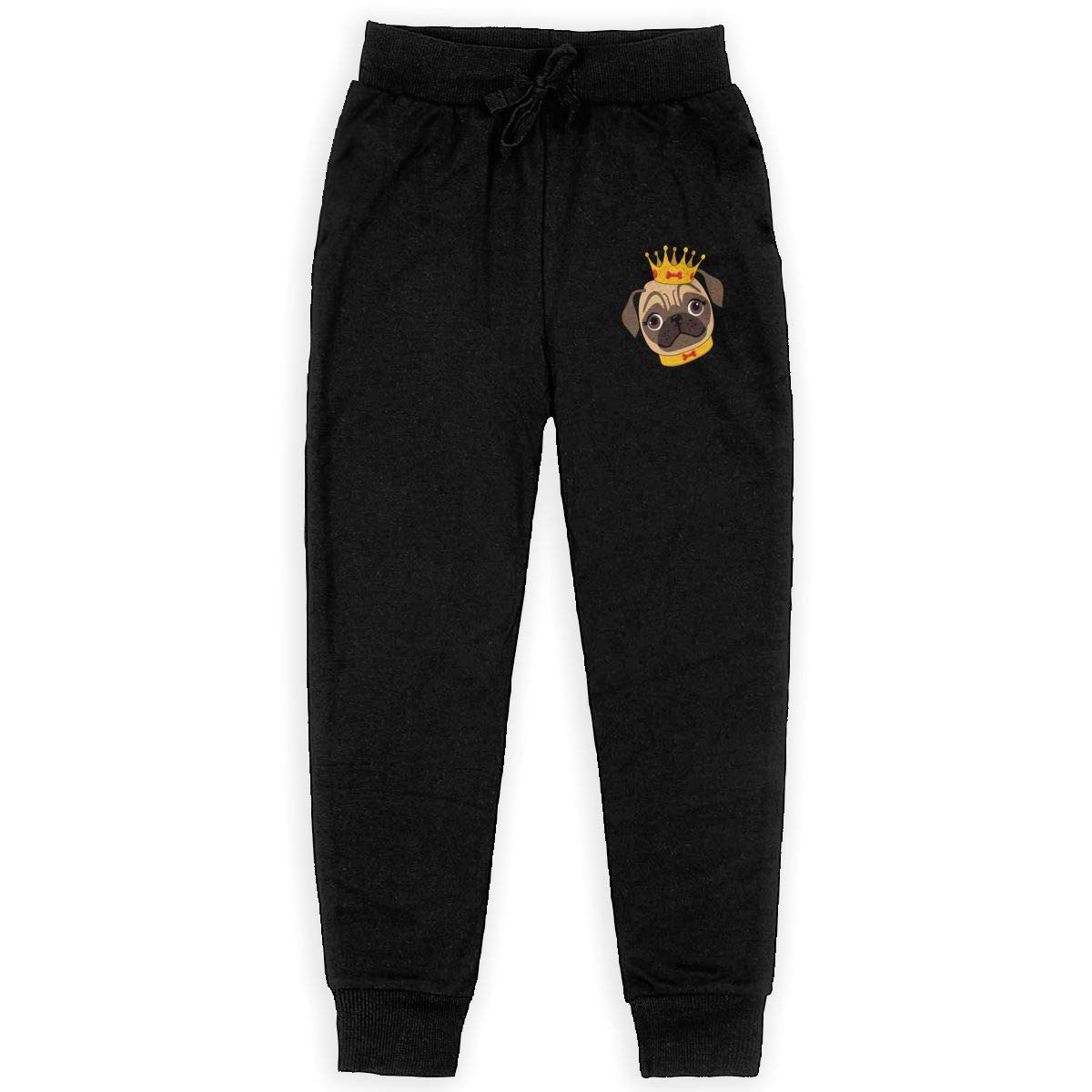 IufnNRJndfu Pug Dog Logo Boys Athletic Smart Fleece Pant Youth Soft and Cozy Sweatpants