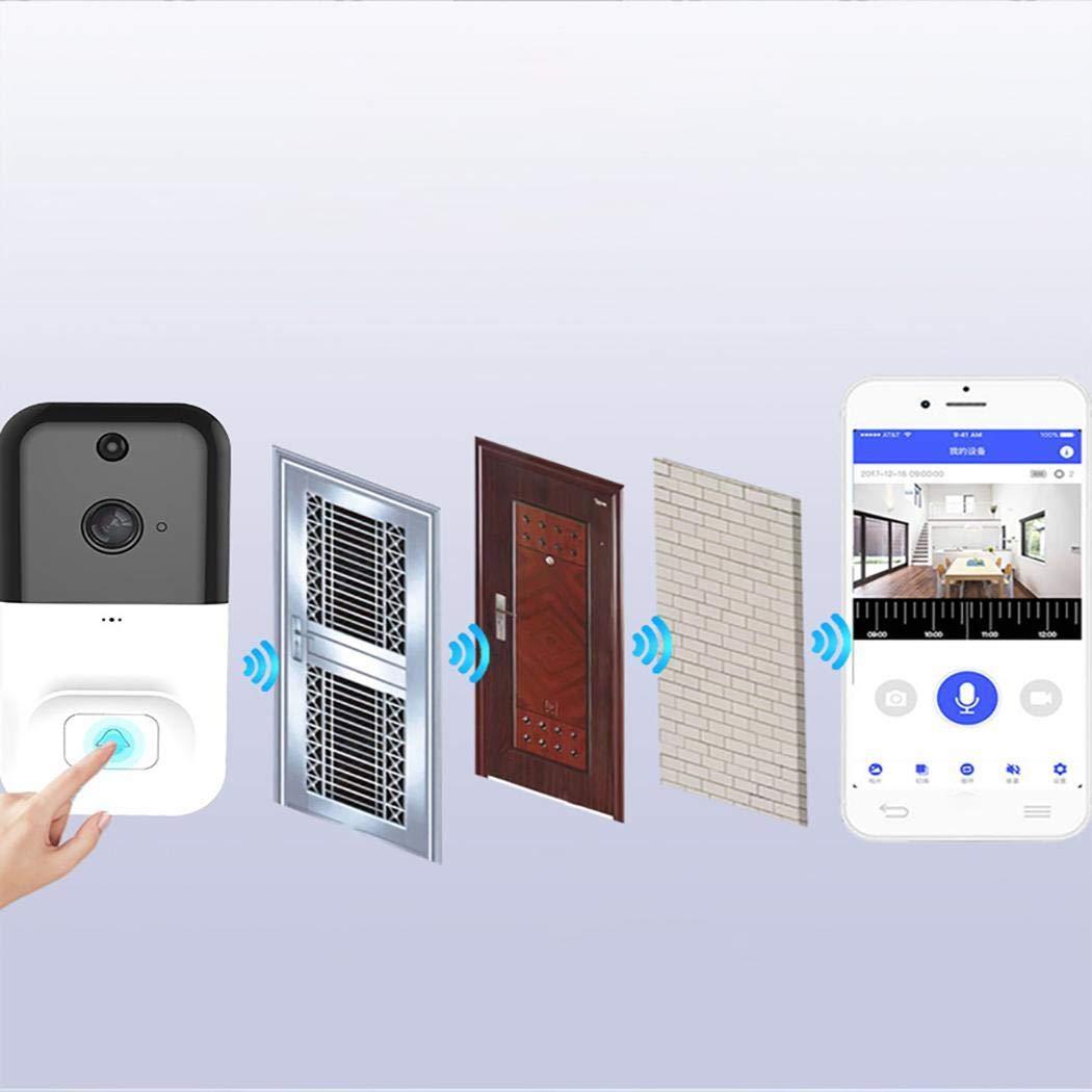 Junio1 Timbre inal/ámbrico Inteligente Duradero inal/ámbrico Timbre de monitoreo Inteligente para el hogar Herramientas manuales