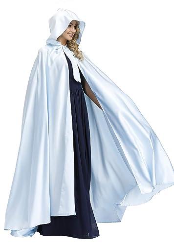 Yexinbridal Hooded Cloak Cape Poncho Full Length Wedding Christmas Costume Unisex