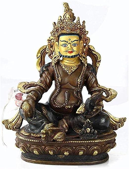 Gjrff Nepalí Puro Miniatura Cobre Estatua de Buda Sentado Zen Buda Estatua Cubierta decoración del hogar de la decoración del jardín al Aire Libre Estatua de 12 × 23 cm: Amazon.es: Hogar